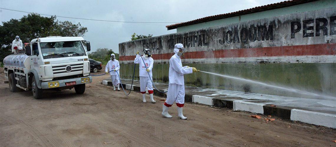 Sanitização no povoado de Candeal / Matinha