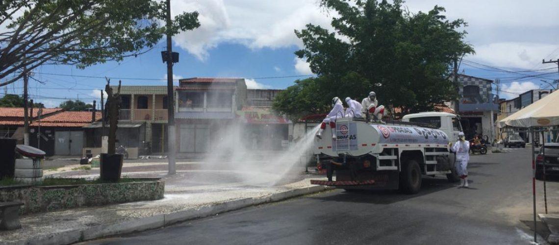 Sanitização Praça Rua Nova